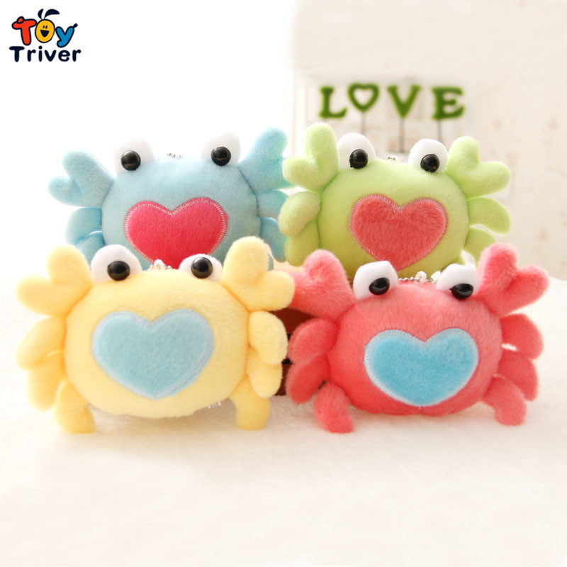 Wholesale 50pcs cartoon colorful crab phone key chain pendant plush toy wedding birthday party cheap gift present Triver Toy wholesale 100pcs cute panda doll plush toys bag purse keychain pendant birthday christmas wedding party small gift triver toy