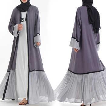Abaya Dubai Kaftan Malaysia Islam Pleated Chiffon Kimono Cardigan Muslim Hijab Dress Women Robe Caftan Turkish Islamic Clothing - Category 🛒 Novelty & Special Use