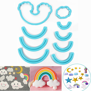 9cps set Rainbow foremka do wykrawania ciasteczek Custom Made 3D drukowane foremka do wykrawania ciasteczek ciastka formy na ciasto dekorowanie narzędzia tanie i dobre opinie Narzędzia do ciasteczek Ekologiczne Na stanie Formy do wzorów na ciasteczka Z tworzywa sztucznego CE UE Lfgb Rainbow Cookie Cutter