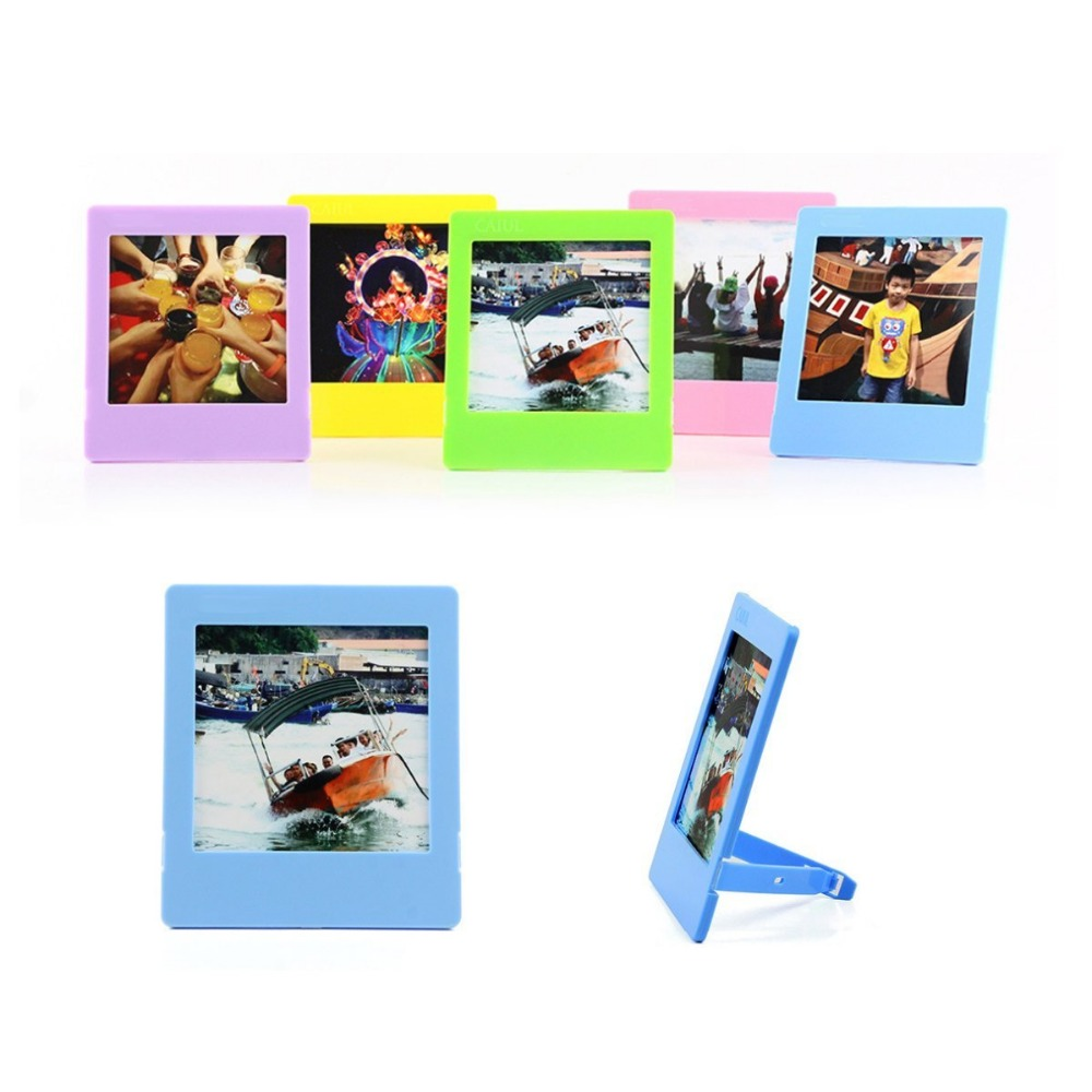 Image 2 - 60x Films Cartoon Message Stickers / Colorful Stand Photo Frame / Wall album For Instax Square SQ20 SQ10 SQ6 SP3 Films DIY Diary-in Camera/Video Bags from Consumer Electronics