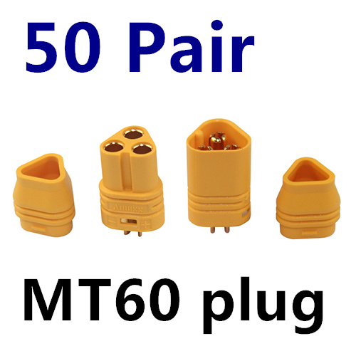 50 Pairs/lot MT60 3.5mm Motor Plug / Connector Set for RC Multicopter Quadcopter Airplane RC lipo battery FPV Free Shipping mos rc airplane lipo battery 3s 11 1v 5200mah 40c for quadrotor rc boat rc car