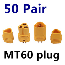 50 Pairs/lot MT60 3.5mm Motor Plug / Connector Set for RC Multicopter Quadcopter Airplane RC lipo battery FPV Free Shipping free shipping sunnysky x2216 880kv 1100kv 1250kv 2400kv rc brushless motor for rc helikopter airplane quadcopter milticopter