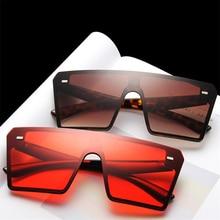 Flat Oversize Square Gradient Sunglasses RK