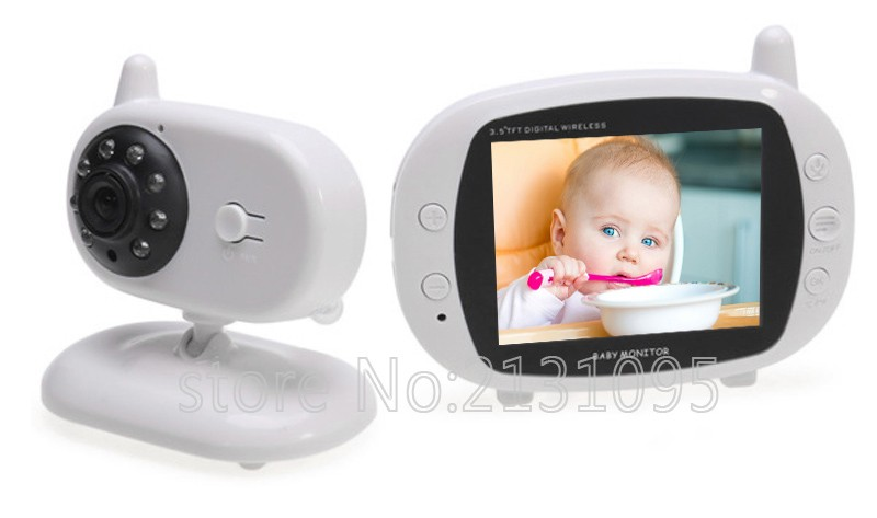 2016 New baba electronics sem fio 3.5inch IR Nightvision Intercom Lullabies Temperature Monitor bateria eletronica doppler fetal (1)