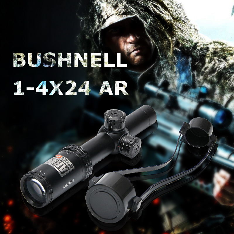 Bushnell 1-4x 24mm AR Optics Rifle Scope Drop Zone-223 Reticle  with Target Turrets Tactical Hunting Scope For Air Gun Rifle бинокль bushnell киев