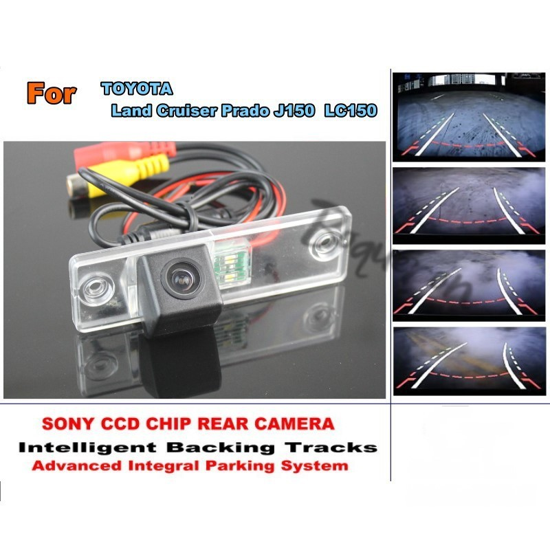 For TOYOTA Land Cruiser Prado LC 150 LC150 Smart Tracks Chip Camera / HD CCD Intelligent Dynamic Parking Car Rear View Camera for mazda cx 3 cx 3 cx3 2014 2015 smart tracks chip camera hd ccd intelligent dynamic parking car rear view camera