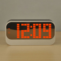 Luminous Thermometer Alarm Clock Coloful Children Alarm Clock Calendar Electronic Clock Big Screen LED Clock