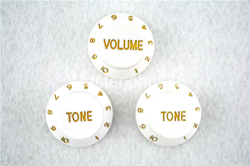 1 Set of Electric Guitar Control Knobs 1 Volume&2 ...