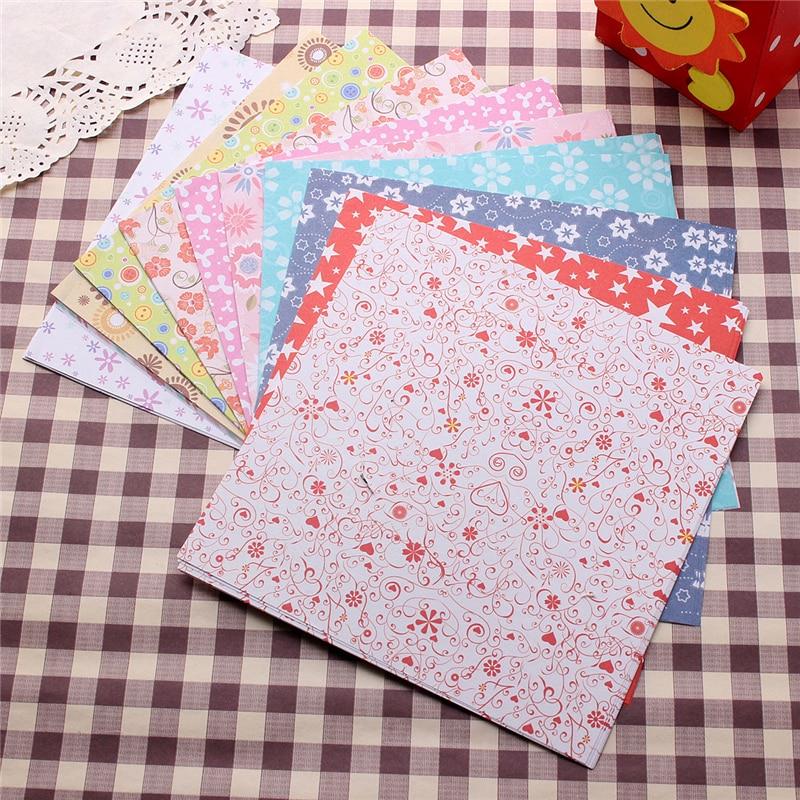 72 Lembar 15X15 Cm Campuran Warna Persegi 12 Macam Pola Kerajinan Kertas Origami Lipat Bunga