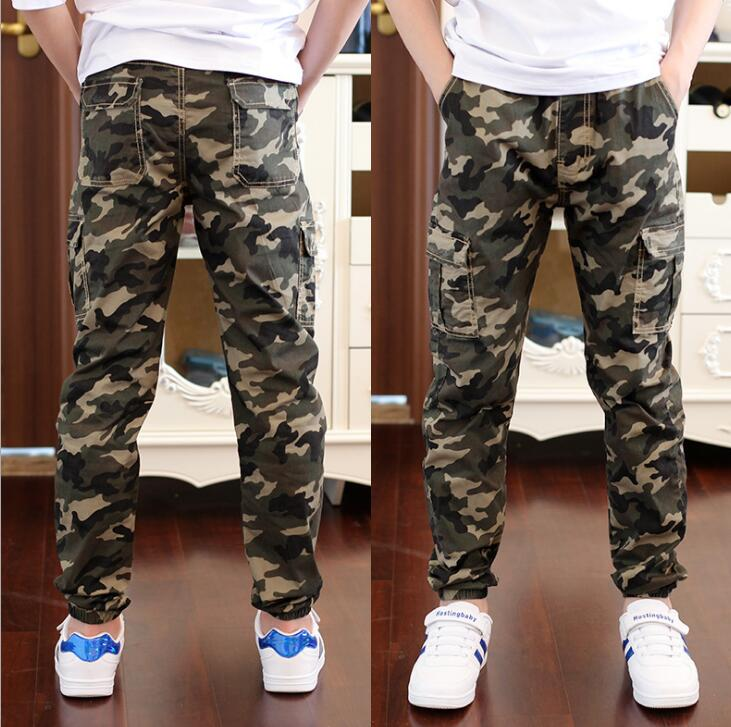 Big boys Casual Pants Children Outdoor Camo Pants Kids Army Design Camouflage trousers baby boys casual pants high quality 4-16Y