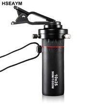 Cheaper Monocular Telescope 10X25  MINI Single Cylinder Mobile Camera Binocular Hunting Tourism Scope With Metal Mobile Phone Clip