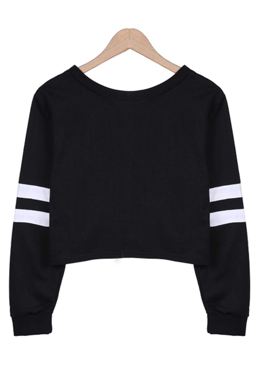 НСБ 2016 Новый Для женщин О-образным вырезом пупка-наружная пуловер с длинными рукавами Топ
