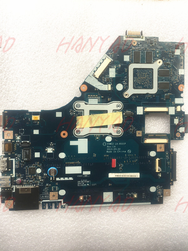 NBMFP1100B For font b Acer b font E1 572G Laptop motherboard I5 cpu LA 9531P REV1A