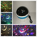 2017 New Romantic Rotating Stars and Moon Sky Rotation Night Projector Light Lamp Projection Novelty Lighting Sky Lights Gifts