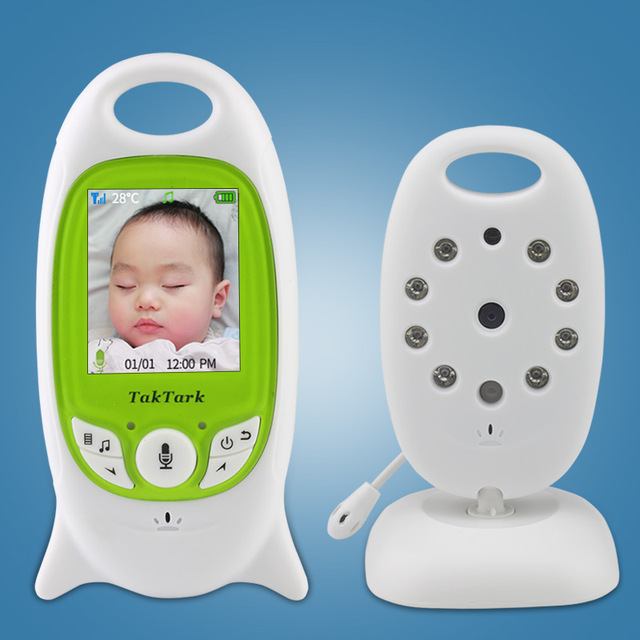 Wireless Video Baby Monitor 2.0 inch Color  Security Camera 2 Way Talk NightVision IR LED Temperature Monitoring with 8 Lullaby 5