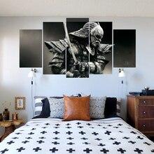 Five Piece Samurai Warrior Print Wall Canvas