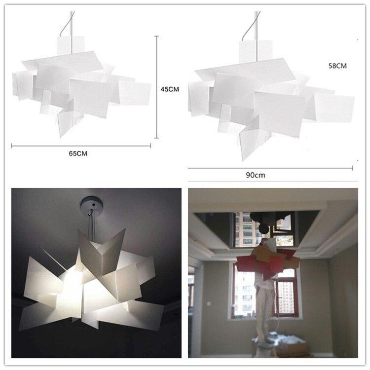цены 15PCS Modern Foscarini Big Bang Pendant Lights White Acrylic Lamps Dining Room Creative Lampadario Moderno Luminarias Lighting