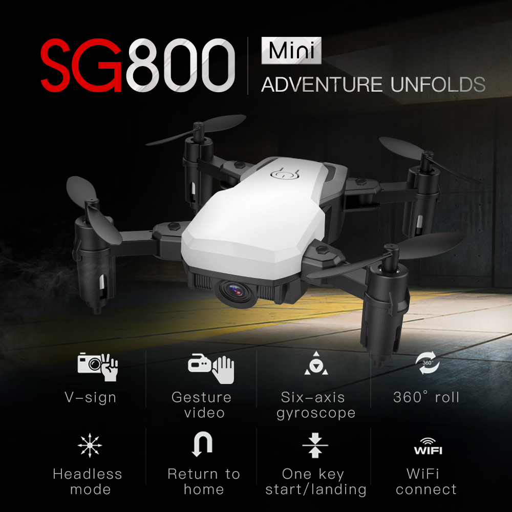 SG800 mini Drone with Camera Altitude Hold RC Drones with Camera HD Wifi FPV Quadcopter Dron RC Helicopter VS E58 sg700 xs809hw global drone with camera hd foldable rc quadcopter altitude hold helicopter wifi fpv dron vs e58