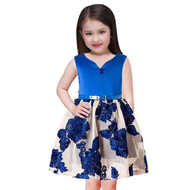 8cd80d7e61cd 2018 Summer Kids Girls Party Dress Baby Teen Christmas Dress New High-grade  Design Children Princess New Year Dress