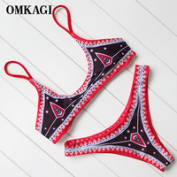 OMKAGI Brand Brazilian Bikini 2018 Swimsuit Women Swimwear Biquinis Sexy Push Up Bikinis Set Swimming Bathing