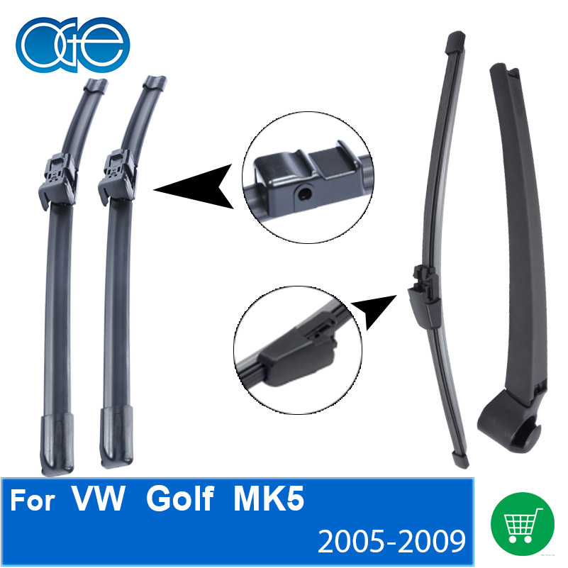 купить Combo Silicone Rubber Front And Rear Wiper Arm Blades For VW Golf 5,2005 2006 2007 2008 2009,Windscreen Wipers Car Accessories по цене 488.9 рублей