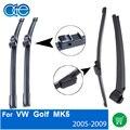 Dianteiro E Traseiro Wiper Arm Blades Combo da Borracha de Silicone Para VW Golf 5,2005 2006 2007 2008 2009, Limpa-pára-brisas Acessórios do carro