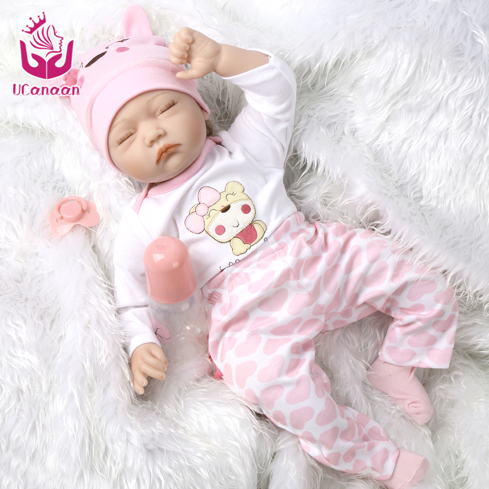22inch/55cm Silicone Reborn Baby Dolls Handmade Soft Body Hair Rooted Realistic Reborn Baby Doll Baby Growth Partners Best Gift partners cd
