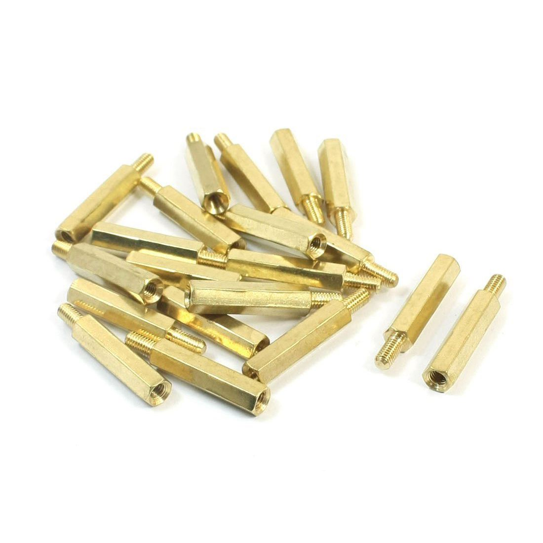 Wholesales 20 Pcs <font><b>M3</b></font> x <font><b>20mm</b></font> x 26mm Male to Female PCB Hexagon Nut <font><b>Standoff</b></font> Spacer image