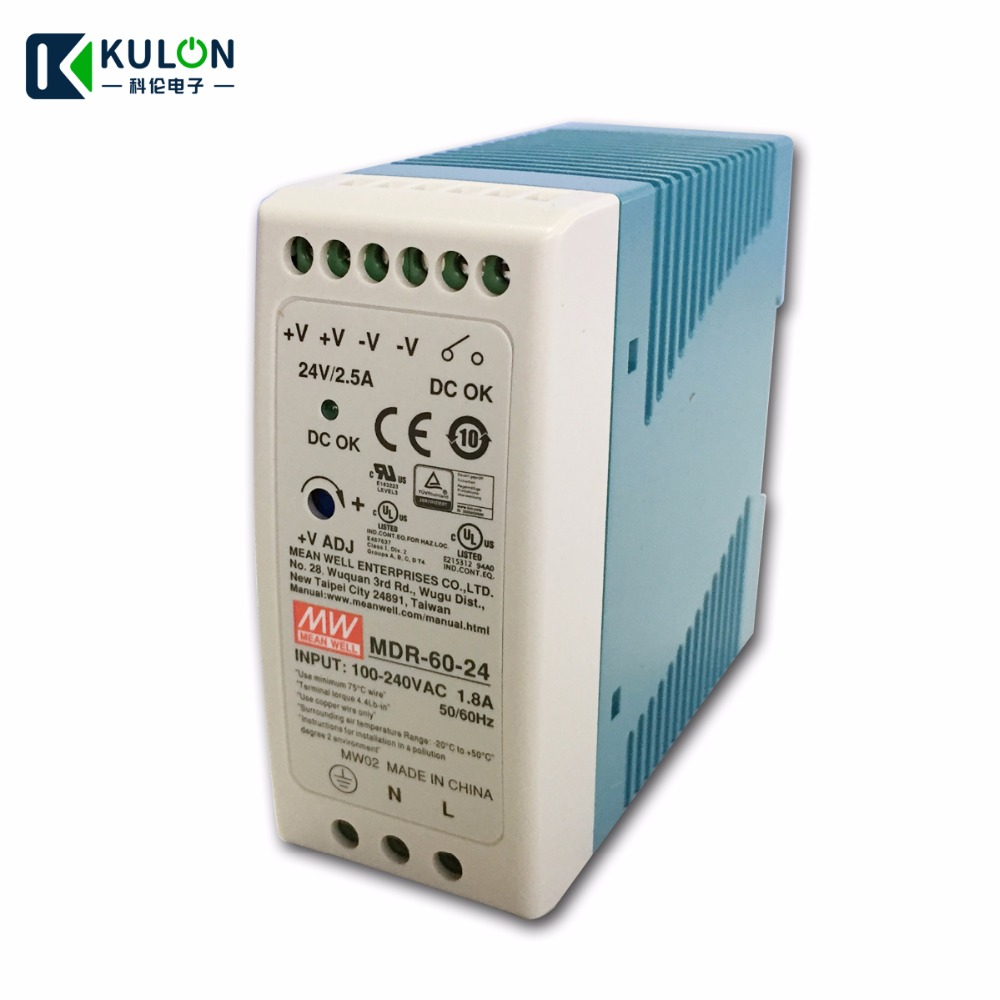 POWERNEX MEAN WELL NEW HDR-30-24 24V 1.5A 36W DIN RAIL POWER SUPPLY