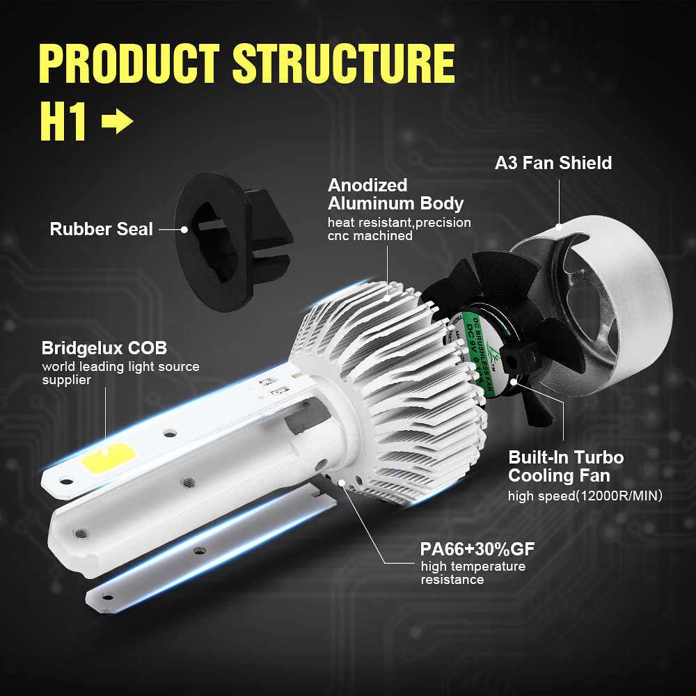 2PCS Car LED Lights Bulbs 12V 36W 8000LM S2 LED H4 H7 H11 H13 H1 H3 880/881 9004 9007 9005 9006 6000k Car Headlights Automotivo