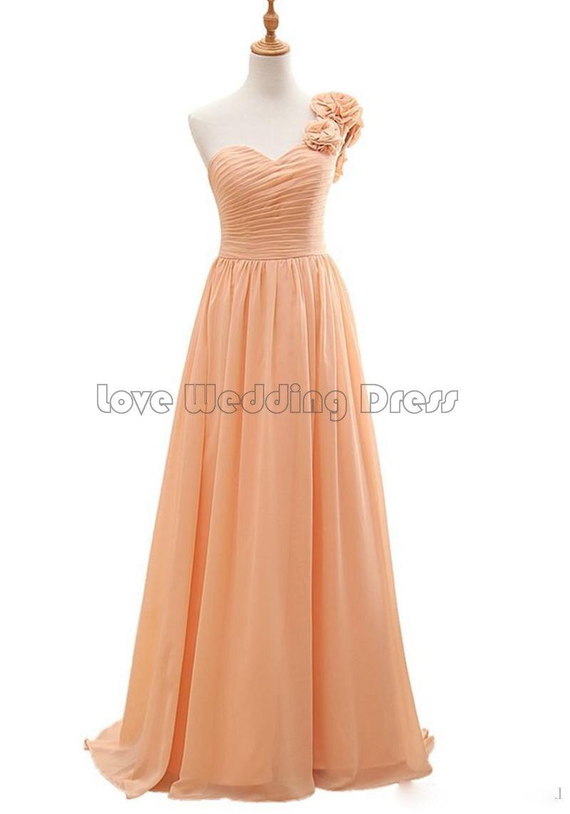 Elegant One Shoulder Long font b bridesmaid b font font b dresses b font Ruched Draped