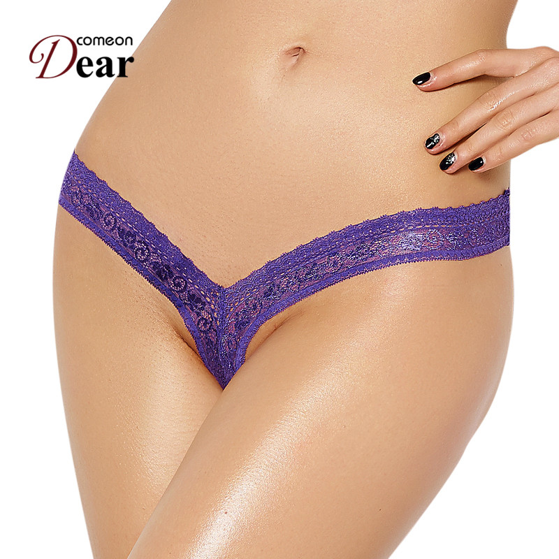 PJ5084 Comeondear 4 color <font><b>XXXL</b></font> Lace Thong Panties Solid <font><b>Sexy</b></font> Women Briefs Thongs And G Strings Woman Underpants <font><b>Culotte</b></font> <font><b>Sexy</b></font> image