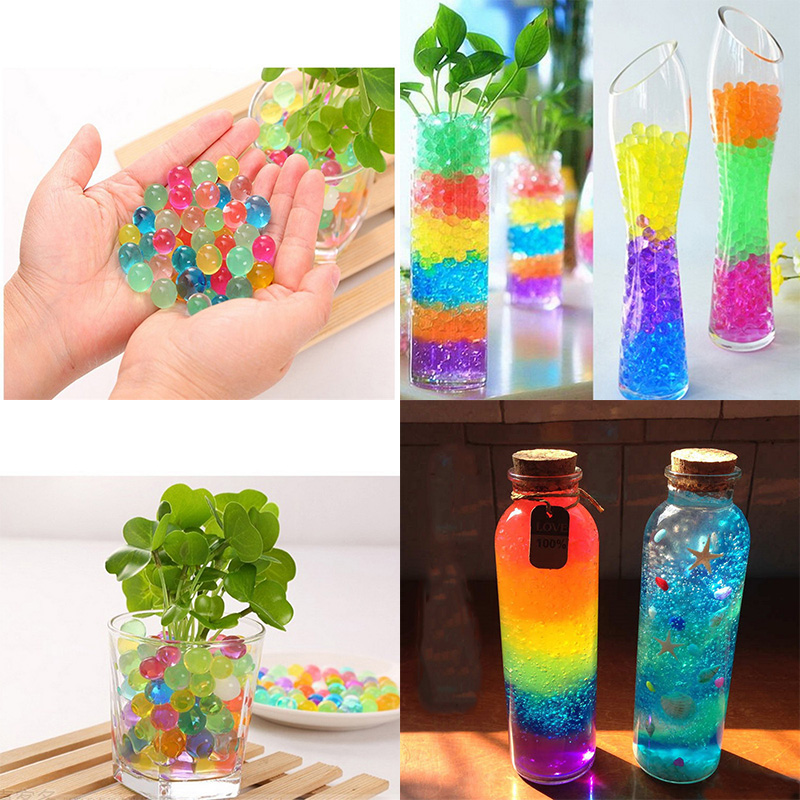 500pcs/pack Water Beads Pearl Shaped Crystal Soil Mud Grow