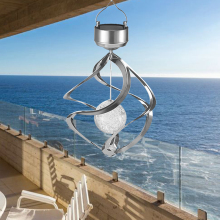 Solar Power Wind Chime Pendant Lights Rotating LED Hanging Light Colorful 7 Colors Changing