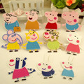 11 pçs/lote peppa pig patches ferro-on diy sew-on patch bordado patches para roupa dos miúdos peppa pig applique etiqueta para pano
