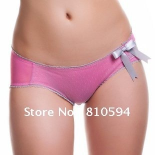 534d19ea2c hot lady s sexy fashion lovely lace picot bow breif panty underwear 5pcs   lot soft cotton lines hand print matching bra