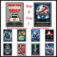 Ghostbusters Movie Poster Classic Coated paper Posters Decorative Wall Sticker Home Bar Decoration Frameless