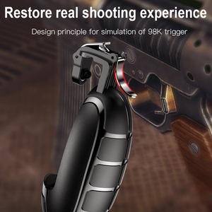 Image 2 - Baseus Joysticks Joypad For PUBG Mobile Game Trigger Fire Button Gamepad For iPhone Xiaomi Android Phone L1R1 Shooter Controller
