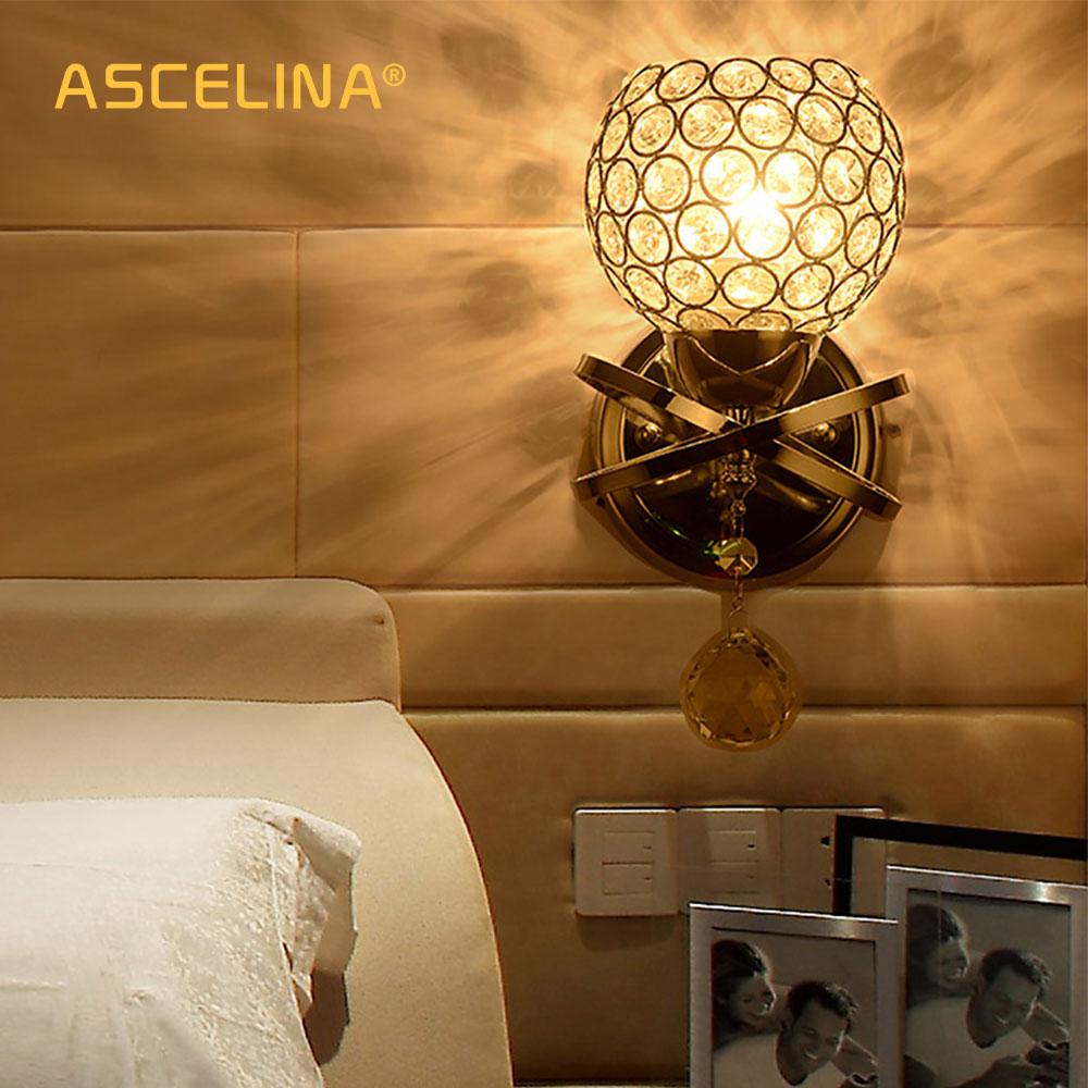 Mur Américain Led Lumière Lampe Cristal Achat K9 Moderne En De 0OnkX8wP