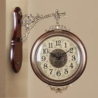 2017 Meijswxj Double Sided Wall Clock Saat Reloj White Clock Relogio de parede Duvar Saati Reloj de pared Horloge Murale Watch
