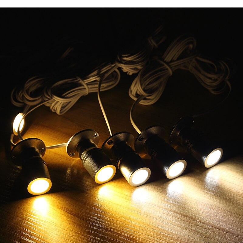 Led البسيطة الأضواء نظام تعليق في السقف النبيذ خزائن صغيرة مكافحة مصباح أضواء 1 إلى 12 معرض مجوهرات الأضواء