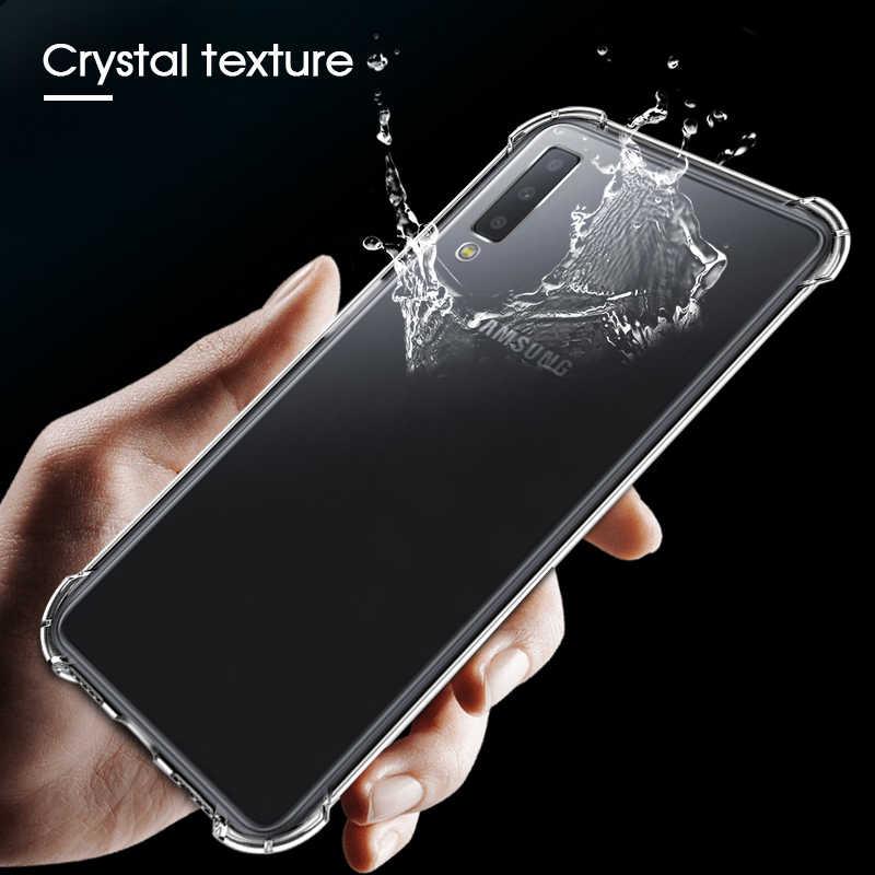 Etui transparent Pour Samsung Galaxy J4 J6 Plus A6 A8 A9 A7 A750 2018 A6S J3 J5 J7 2017 S8 S9 Plus Note 8 Clear Coque