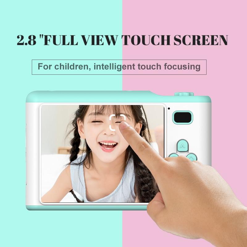 OMERY appareil photo numérique enfant FHD caméscope avant et arrière double caméras 2.4 pouces écran jusqu'à 2300 Photos 2.5h vidéo