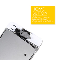 replacement home button Full Set LCD for iPhone 5s 5c Screen Complete Assembly Display SE Digitizer Replacement moudle 6 With Front Camera Home Button (3)