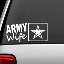 Army Wife Car Sticker Armed Forces Military Veteran Fashion Personality Creative Vinyl Decor Decals