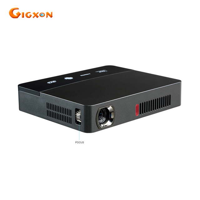 Best Offers Gigxon - G601 mini smart DLP projector 1600 lumens Android 4.4 WiFi Bluetooth for classroom home cinema office RD-601 projector