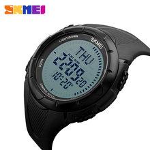 SKMEI – montre-bracelet avec boussole pour hommes, étanche, numérique, Sport, horloge mondiale 3, 1232