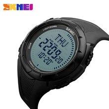 SKMEI Hombres Deportes Relojes Brújula Cuenta Atrás Hora Mundial Relojes de Pulsera 50 M Impermeable 3 Despertador Digital Reloj Del Relogio masculino 1232