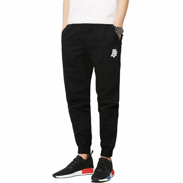 2016 Novos Homens calças Moda Impresso Longo dos homens calça Casual Homens Slim Fit Outono & Primavera Confortável Lazer Jogger plus Size 5XL