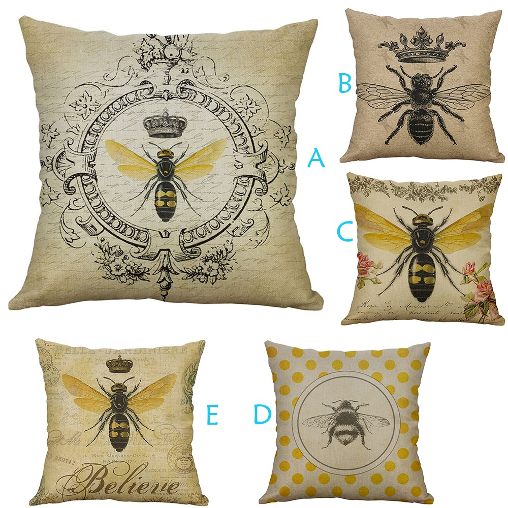 Home Decor Linen Cotton Throw Pillow Fashion Geometric  Case Cushion Cover Fit